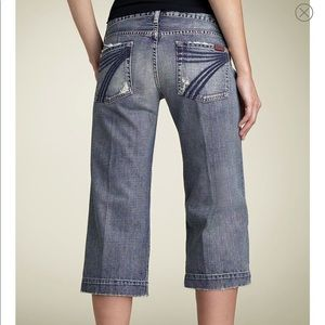 7 For All Mankind Crop Dojo Jeans Size 29